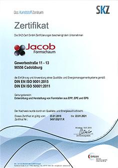 Zertifizierung nach: DIN EN ISO 9001:2015 und DIN EN ISO 50001:2018